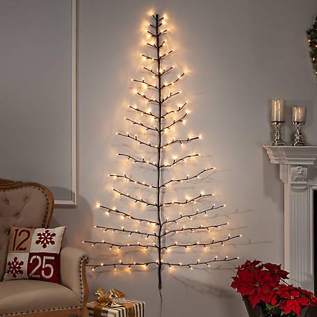 Everlasting Glow 6 ft. Tree Shaped Wall Hanging, 2367080EC