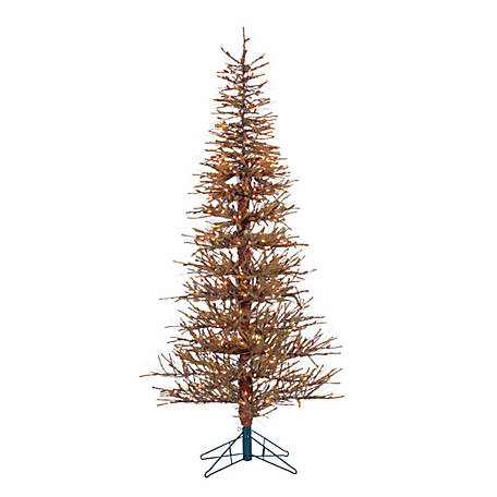 Sterling Tree Company 6 ft. Hard Needle Brown Twig Christmas Tree, Clear Lights, 5362--60C