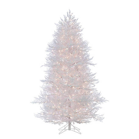 Sterling Tree Company 7 ft. Lightly Flocked White Twig Christmas Tree, 5873--70C
