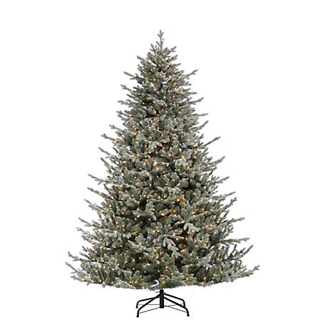 Sterling Tree Company 7.5 ft. Natural Cut Lightly Flocked Fir Christmas Tree, 5878--75C