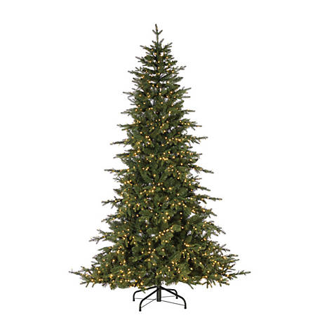 Sterling Tree Company 7.5 ft. LED Natural Cut Seville Pine Christmas Tree, 6382--75MLWW