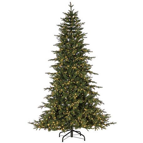 Sterling Tree Company 9 ft. LED Natural Cut Seville Pine Christmas Tree, 6382--90MLWW