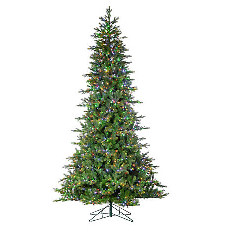 Sterling Tree Company 9 ft. LED Natural Cut Aspen Pine Christmas Tree, 6387--90CMLEDML
