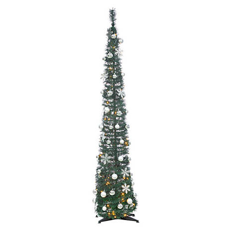 Sterling Tree Company, 6 ft. Popup Decorated Green Christmas Tree, 6450--60MLWW