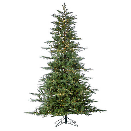 Sterling Tree Company 9 ft. LED Natural Cut Portland Pine Christmas Tree, 6634--90CMLEDML