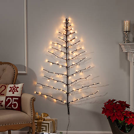 Everlasting Glow 4 ft. Tree Shape Branch with 112 W Warm Light, 2367100EC