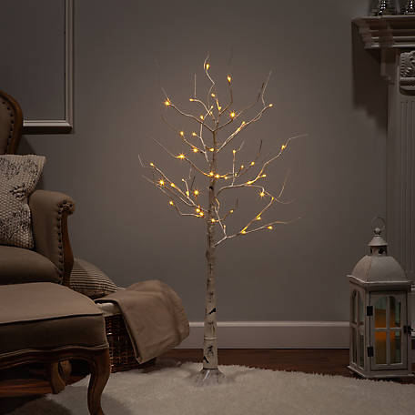 Everlasting Glow 4 ft. Electric Birch Tree LED Lighted, 2228880EC