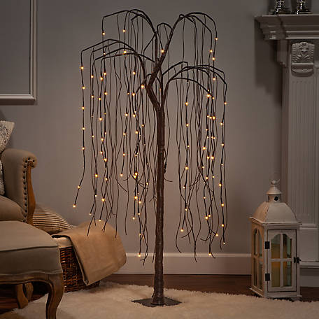 Everlasting Glow 60 in. Electric Willow Tree, Brown, 2508380EC
