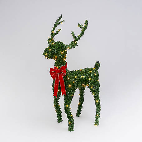 Gerson International 5 ft. H Electric Green PVC Reindeer, 2508600EC