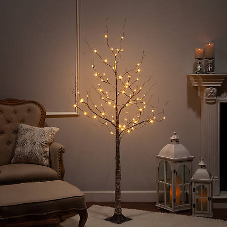 Everlasting Glow 6 ft. Electric Birch Wrapped Led 2228780EC