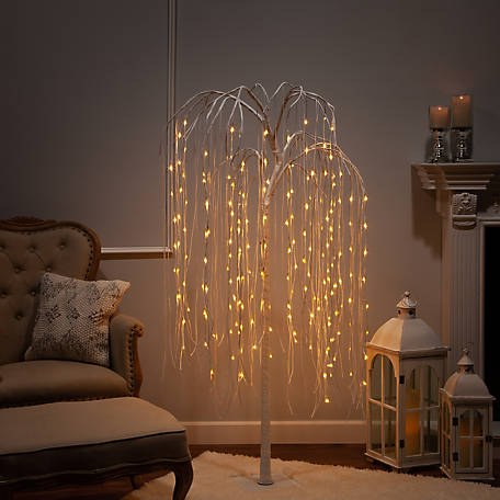 Everlasting Glow 84 in. Electric Lighted Willow Tree, 2508040EC