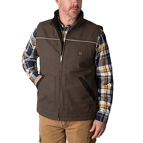Walls Men's Coleman Sherpa-Lined DWR Duck Work Vest