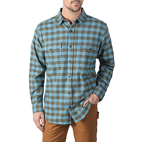 Walls Men's Wagu Heavyweight Brushed Flannel Work Shirt