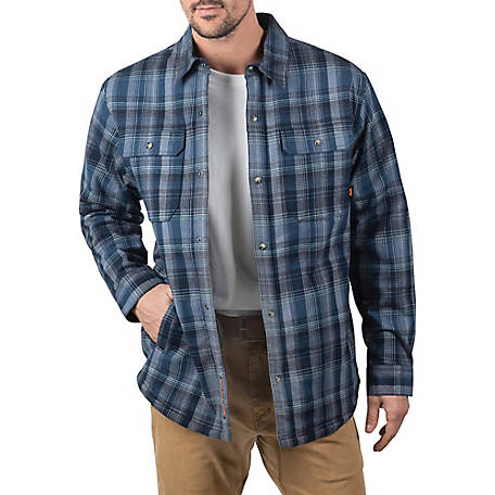 Walls Men's Lone Oak Sherpa-Lined Stretch Flannel Shirt Jacket
