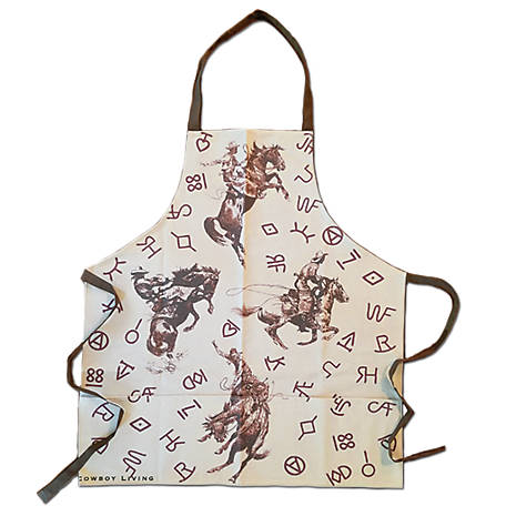 Cowboy Living Broncs And Brands Apron, 7698