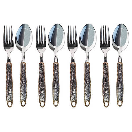 Cowboy Living Western Buckle Flatware Lunch, 8 pc. Set,  4387