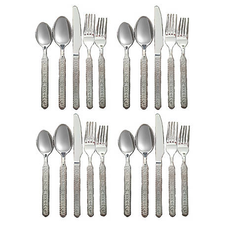 Cowboy Living Ranch Brands Stainless Flatware, 20 pc. Set, 1367
