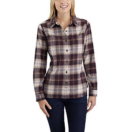 Carhartt Women's Long Sleeve Hamilton Flannel Shirt, 103226