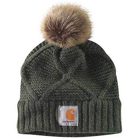 Carhartt Ladies Cable Knit Pom Hat, 103923