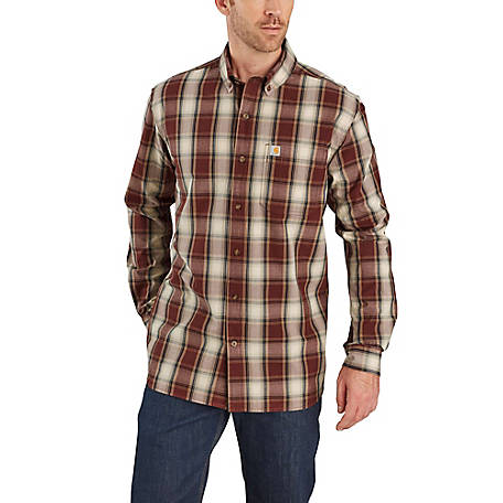 closer at super popular undefeated x Carhartt Men's Long Sleeve Plaid Button Down Shirt, 103899 at Tractor  Supply Co.