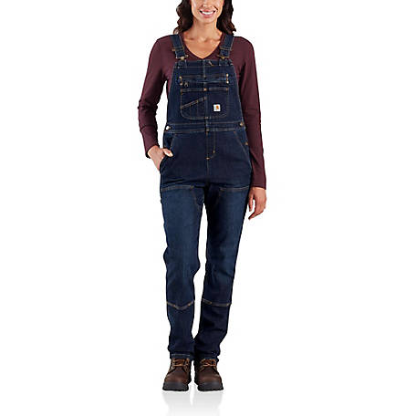 Carhartt Women's Long Sleeve Double Front Denim Bib, 104044