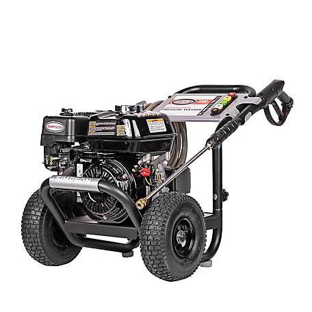SIMPSON PowerShot 3300 PSI at 2.5 GPM HONDA GX200 & AAA Industrial Triplex Pump Gas Pressure Washer, 60629