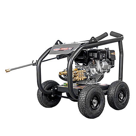SIMPSON SuperPro Roll-Cage 3600 PSI at 2.5 GPM HONDA GX200 & AAA Triplex Plunger Pump Gas Pressure Washer, 65200
