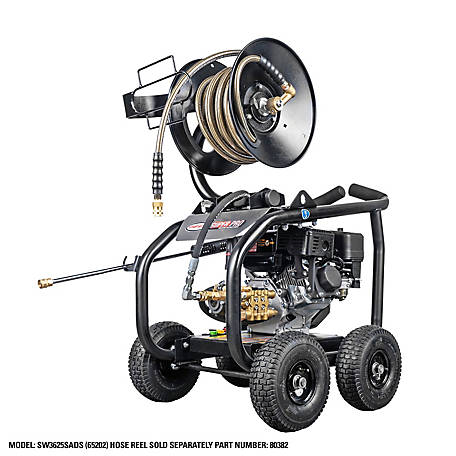 SIMPSON SuperPro Roll-Cage 3600 PSI at 2.5 GPM SIMPSON GB210 AAA Triplex Plunger Pump Gas Pressure Washer, 65202