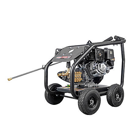 SIMPSON SuperPro Roll-Cage 4400 PSI at 4.0 GPM HONDA GX390 & AAA Triplex Plunger Pump Gas Pressure Washer, 65206