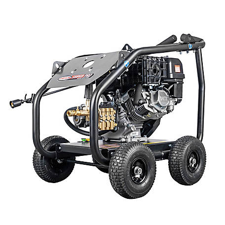 SIMPSON SuperPro Roll-Cage 4400 PSI at 4.0 GPM SIMPSON 420 & AAA Triplex Plunger Pump Gas Pressure Washer, 65208