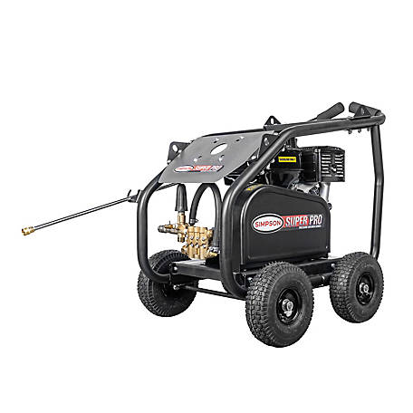 SIMPSON SuperPro Roll-Cage 4400 PSI at 4.0 GPM HONDA GX390 & AAA Triplex Plunger Pump Belt Drive Gas Pressure Washer, 65209