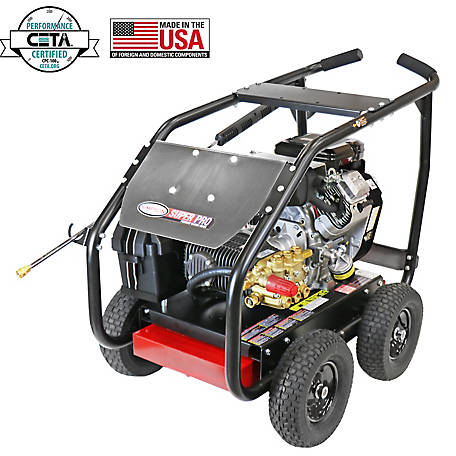 SIMPSON SuperPro Roll-Cage 4000 PSI at 5.0 GPM VANGUARD & COMET Triplex Plunger Pump Gear Drive Gas Pressure Washer, 65212
