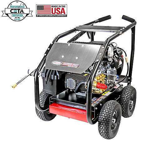 SIMPSON SuperPro Roll-Cage 5000 PSI at 5.0 GPM HONDA GX690 & COMET Triplex Plunger Pump Gear Drive Gas Pressure Washer, 65213