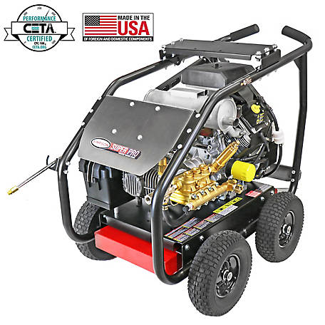 SIMPSON SuperPro Roll-Cage 6000 PSI at 5.0 GPM KOHLER CH750, COMET Triplex Plunger Pump Gear Drive Gas Pressure Washer, 65214