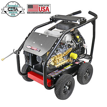 SIMPSON SuperPro Roll-Cage 7000 PSI at 4.0 GPM KOHLER CH750, COMET Triplex Plunger Pump Gear Drive Gas Pressure Washer, 65215