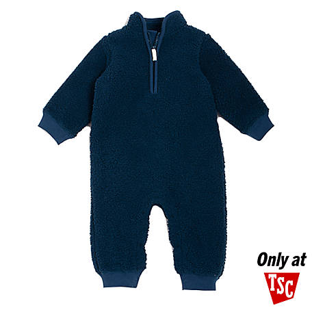 chick pea Boys' Single Unfooted Coverall, Blue Sherpa, PE22516252