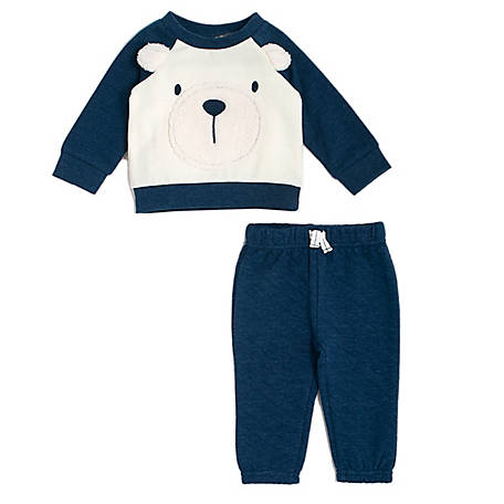 chick pea Boys' 2-Piece Jogger Set Blue Bear, PE22516243