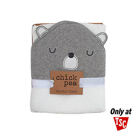 Chick Pea Woven Terry Hooded Towel Grey Bear Nosize DE20516491