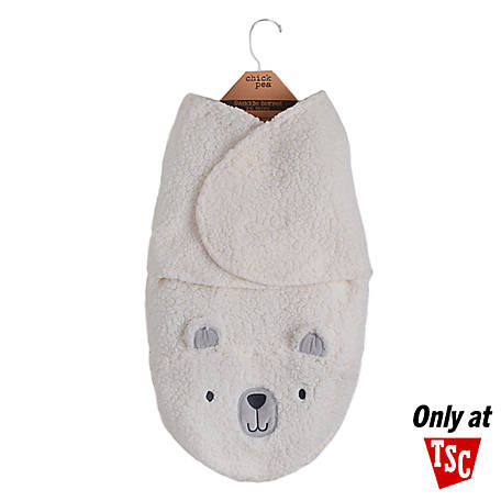 Chick Pea Character Sherpa Swaddle Ivory Bear Nosize BE00913018R, BEAR