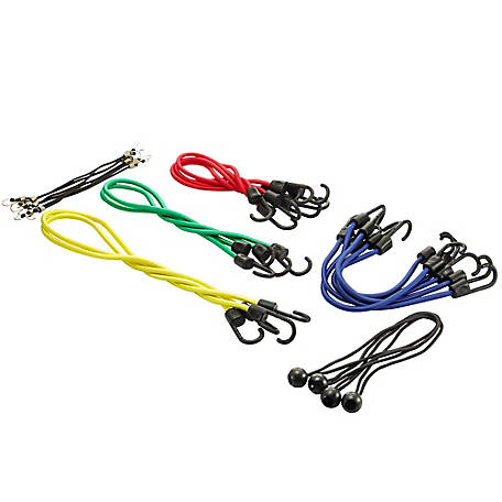 Barn Star Bungee Cords Kit, 24 Piece, 892-00011