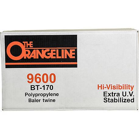 Orangeline Polypropylene Baler Twine, 9,600 ft /170 lb  Knot Strength, 9600  PLASTIC at Tractor Supply Co