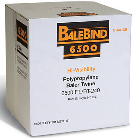 Balebind Polypropylene Baler Twine, 6,500 ft /240 lb  Knot