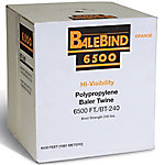Balebind Polypropylene Baler Twine, 6,500 ft./240 lb. Knot Strength, Orange, PT-WR240-65