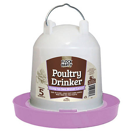 Flock Party 5 Quart Drinker Lavender, 1030525