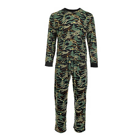 pajamarama Men's Two Piece Pajama Set, Green Camouflage