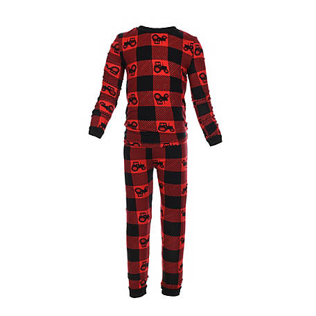 pajamarama Toddler Two Piece Pajama Set, Red Tractor