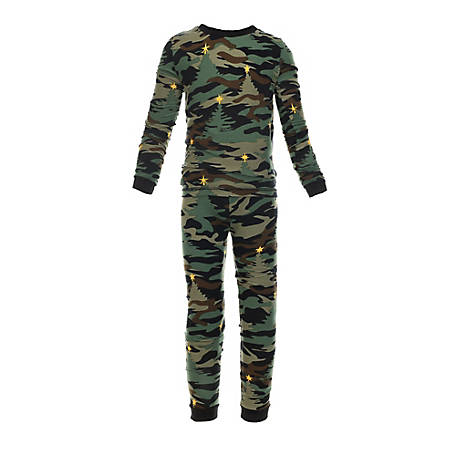 pajamarama Toddler Two Piece Pajama Set, Green Camouflage