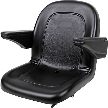 Black Talon Ultra Highback Seat, with Integral Poly Slides, Black, 120002BK