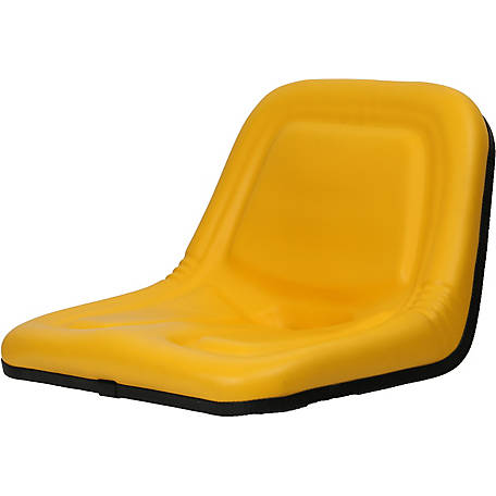 Black Talon Deluxe Highback Steel Pan Seat, Yellow, 135001YE