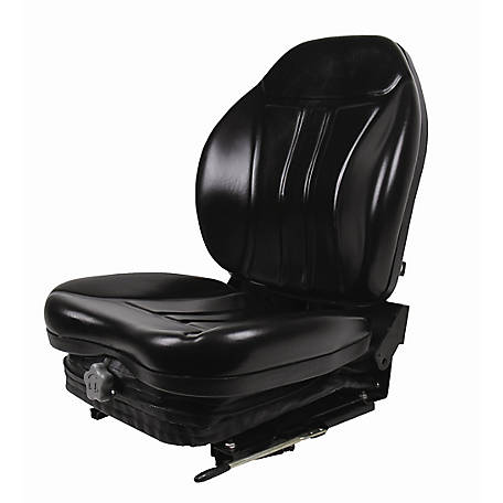 Black Talon High-Back Seat with Integrated Suspension, Vinyl, Black, 360010BK